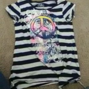 Colorful peace sign for kids size 12